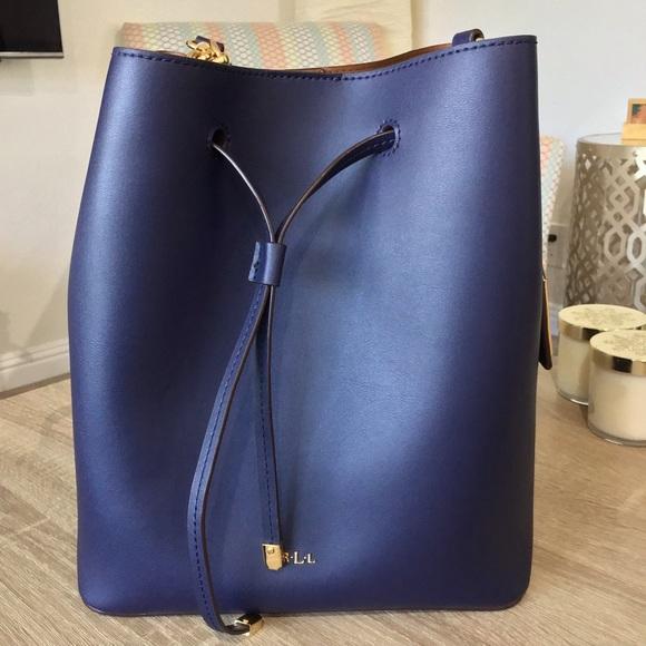 Ralph Lauren Bags   Deep Blue Bucket Bag   Poshmark 64814ca3f8